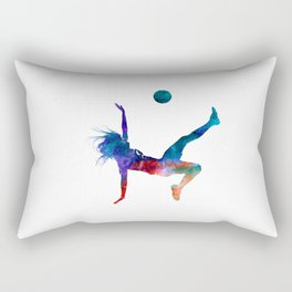 Woman soccer player 08 in watercolor Rectangular Pillow