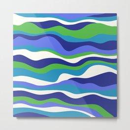 Cordillera Stripe: Purple and Green Combo Metal Print