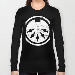 Distressed MIDI Plug | Synthesizer Design Long Sleeve T-shirt