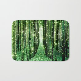 Magical Forest Green Elegance Bath Mat