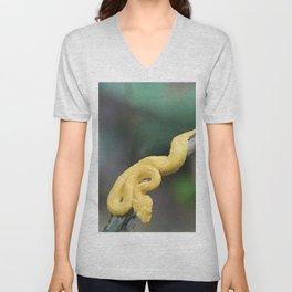 Cesta Rica Yellow poison Snake - Reptiles Unisex V-Neck