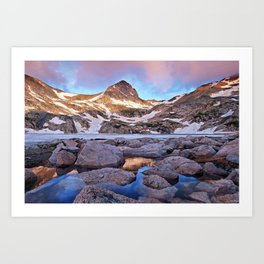 Blue Lake Sunrise Art Print