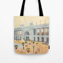 Colonnade at 1893 World's Fair in Chicago Tote Bag