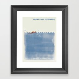 Great Lake Swimmers Gig Poster Framed Art Print