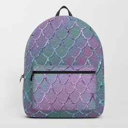 Mermaid Princess Glitter Scales Glam #1 #shiny #stripes #decor #art #society6 Backpack