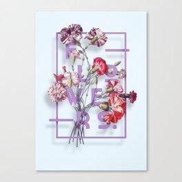 Flowers Bloom Botanicals Vintage Illustration Poster #3 Canvas Print
