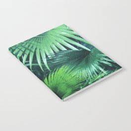 Tropical Botanic Jungle Garden Palm Leaf Green Notebook