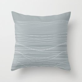 Unstable Lines Throw Pillow