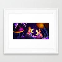 fairies Framed Art Prints featuring Fairies by Jimena Mora