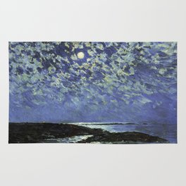Childe Hassam - Moonlight  Isle Of Shoals Rug