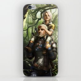 Geralt and Ciri iPhone Skin