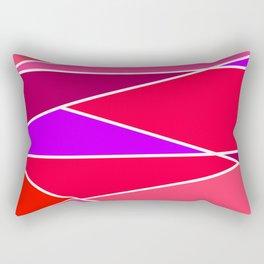 Broken Red Hues Rectangular Pillow