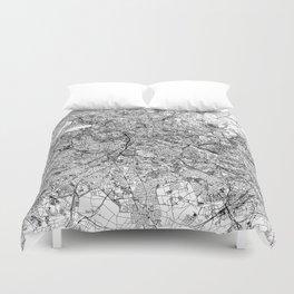 Berlin White Map Duvet Cover