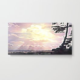 On the Baltic coast. Metal Print