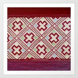tradional bulgarian embrodeiry Art Print
