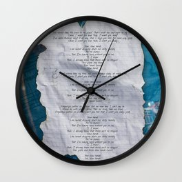SLOW HANDS Wall Clock