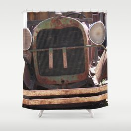 Truck Grill, Old Truck Grill, Vintage, Antique Truck Shower Curtain