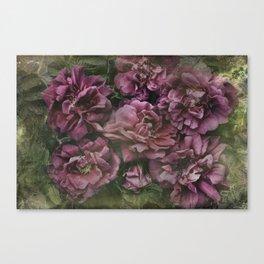 Antique Vintage Floral Roses  Canvas Print
