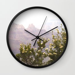 Cliff Rose at the Grand Canyon Wall Clock
