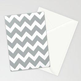 Chevron Grey & White Stationery Cards