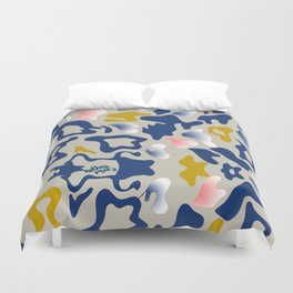 Leo Sea Peace Print by Anthea Missy Duvet Cover