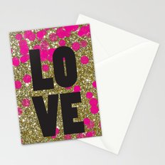 Love in Glitter Stationery Cards