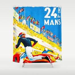 Mans 1959 Grand Prix Shower Curtain