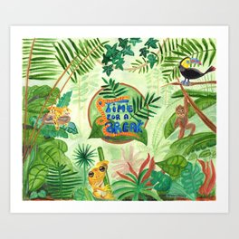 Medilludesign Ecotherapy Jungle Art Print