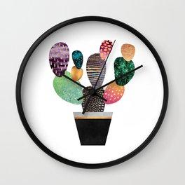 Pretty Cactus Wall Clock