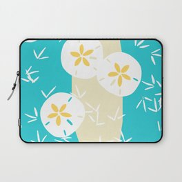 Beachy Sand Dollars + Sandpipers Pattern Laptop Sleeve