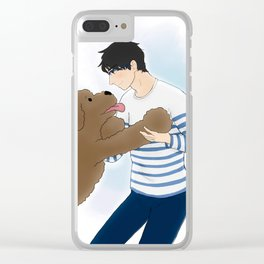 makkachin and yuuri dancing - yuri on ice Clear iPhone Case