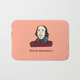 William Shakespeare - hand-drawn portrait Bath Mat