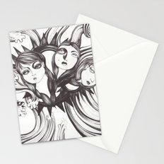 Caída al vacío Stationery Cards