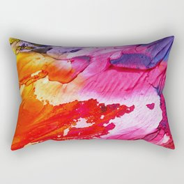 Red purple paint Rectangular Pillow