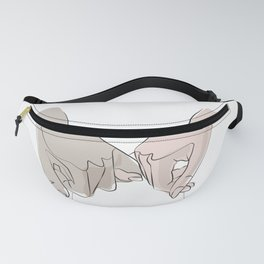 promettre-Pinky Swear Printable, One Line Drawing Fanny Pack