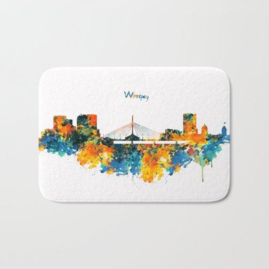 Winnipeg Skyline Bath Mat