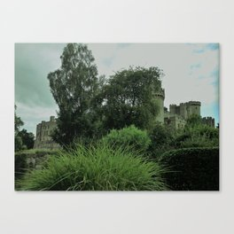 Warwick Castle Bathed in Green Light Canvas Print