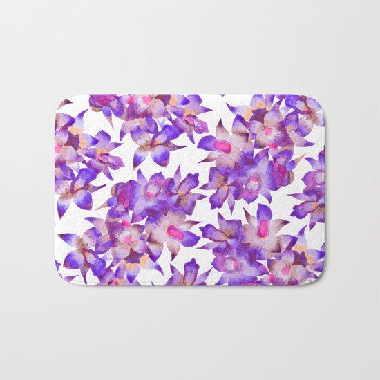 Vintage Floral Violet Bath Mat