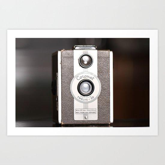 1950 Vintage Coronet twelve-20 twin lens box camera Art Print
