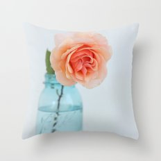 Rose in a Jar Throw Pillow