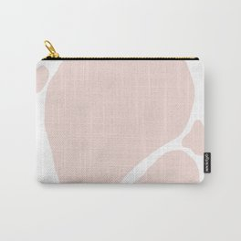 Pink Shapes with White Background Carry-All Pouch