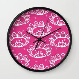 Pollen (in Pink) Wall Clock