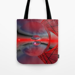 red sky in a glass Tote Bag