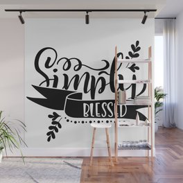 Simply Blessed Thanksgiving Wall Mural