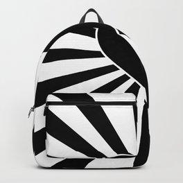 Black and White Love Heart Valentines Bursting Heart Backpack