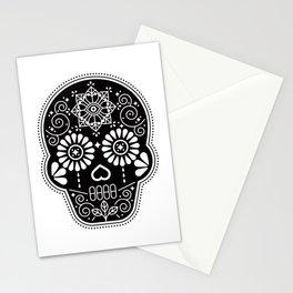Día de Muertos Calavera • Mexican Sugar Skull – Black Palette Stationery Cards