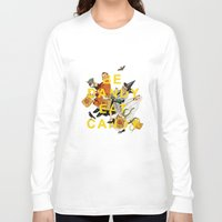 eat Long Sleeve T-shirts featuring Be Dandy Eat Candy by Heather Landis