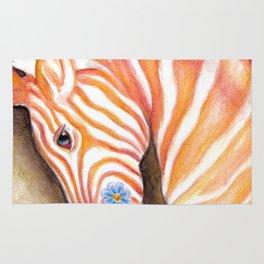 Carousel Zebra Pony Rug