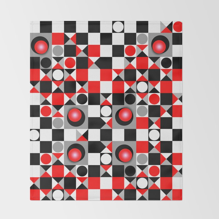 Cute Patterns In Red Black And Grey Throw Blanket By Walstraasart Stunning Cute Patterns