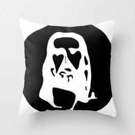 Optical Illusion - After Image - Jesus Christ Throw Pillow